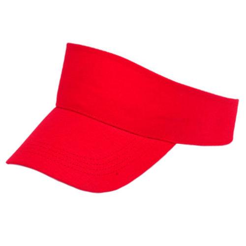 Outdoor Sports Visor Hat Sun Hat Adjustable Cap for Children, Red