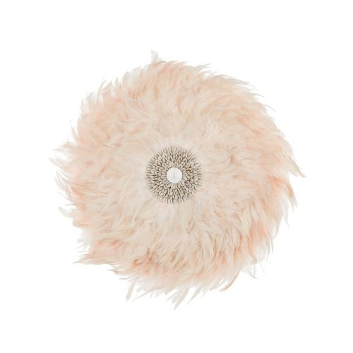 Feather Wall Decor with Shells ø60 cm Pink JUJU