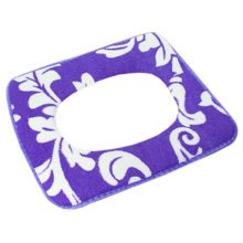 Fashion Thicken Toilet Lid/Toilet Seat Cover,Square Warmer Soft Cushion Purple