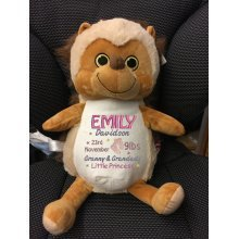 Hedgehog - Personalised With Embroidered Message, Name or Birth Date