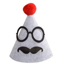 2 Pieces Funny Glasses Birthday Hat Party Hat For Kids