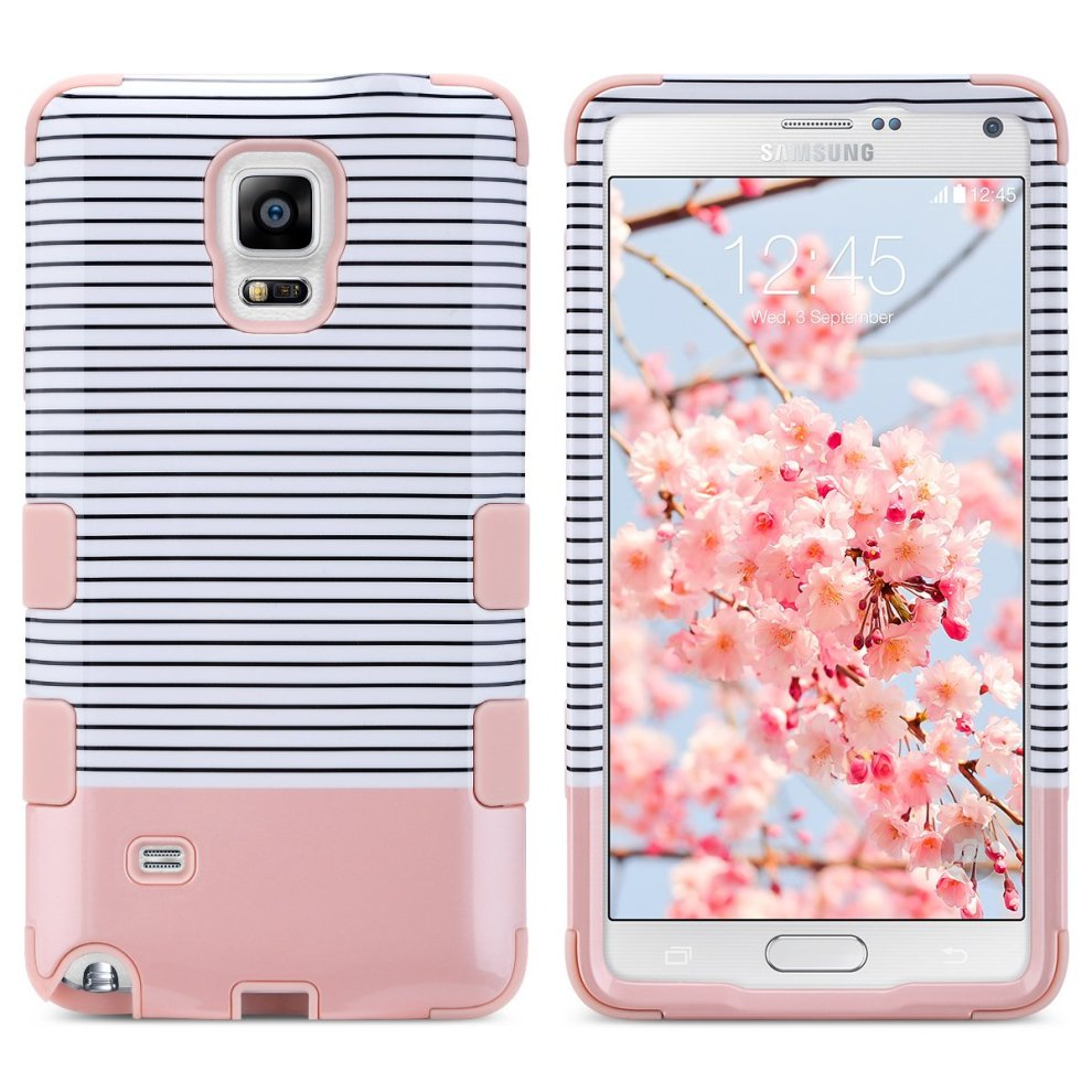 efc8344a62 ... Note 4 Case, Galaxy Note 4 Case, ULAK Hybrid 3in1 Hybrid Soft Flexible  Inner. >