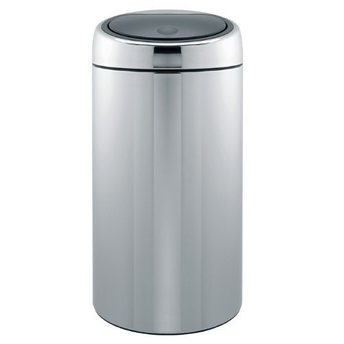 Brabantia Twin Bin 2x20 Litre in Brilliant Steel