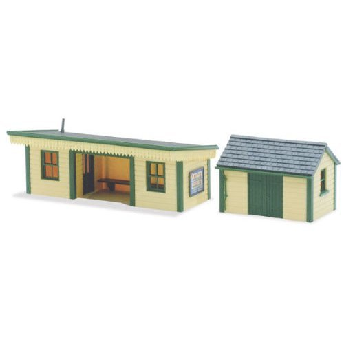 Platform Shelter + Hut Timber - OO/HO building kit - Peco LK-16 - free post