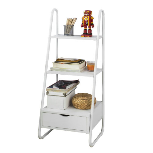 more photos e3b65 cb5b2 SoBuy® FRG219-W, Free Standing Ladder Shelf Bookcase Storage Display Shelf