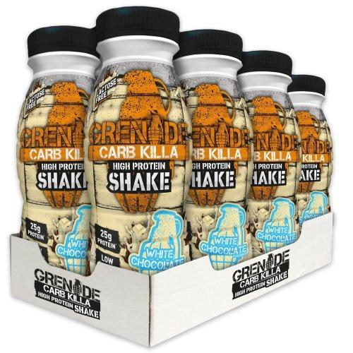 Grenade Carb Killa White Chocolate High Protein Shake Bottles, 8 x 330 ml
