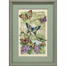 D35223 - Dimensions Counted X Stitch - Gold, Butterfly Forest