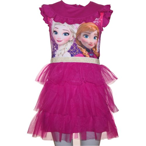 Girls Disney Frozen Short Sleeve Dress Dark