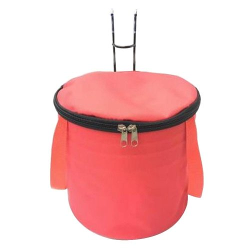 [F] Waterproof Canvas Bicycle Basket Foldable Lidded Basket for Bike