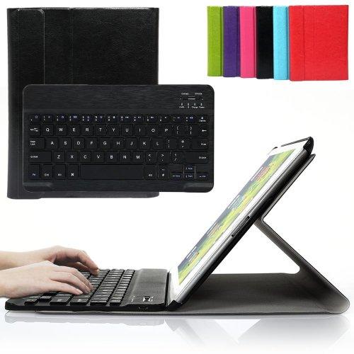 Besmall Ultra-Slim Bluetooth Keyboard PU Folding Cover iPad 2/3/4 -Black