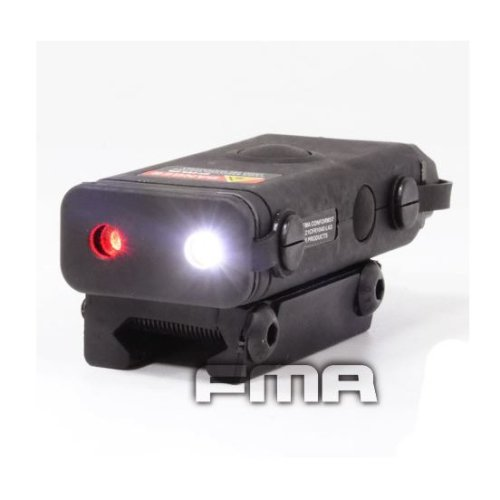 Airsoft An/Peq-10 Red Laser Light Led Torch Flashlight Ris 20Mm Rail Black Uk