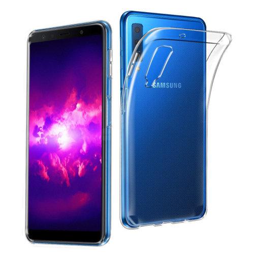 iPro Accessories Galaxy A7 2018 Case, Galaxy A7 2018 Crystal Case, Galaxy A7 2018 Crystal Clear Case, Soft Flexible Thin Gel TPU Skin Scratch-Proof Case Cover