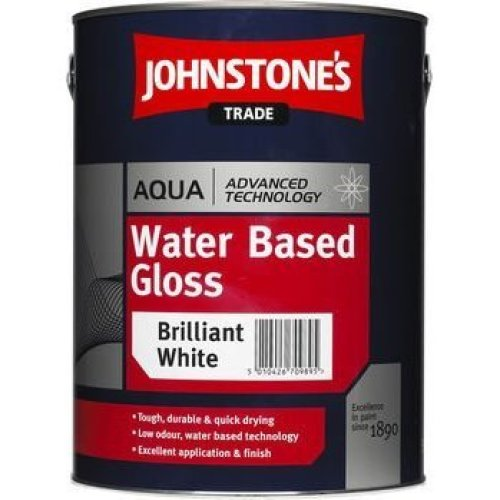 5LTR - JOHNSTONES TRADE AQUA GLOSS BRILLIANT WHITE