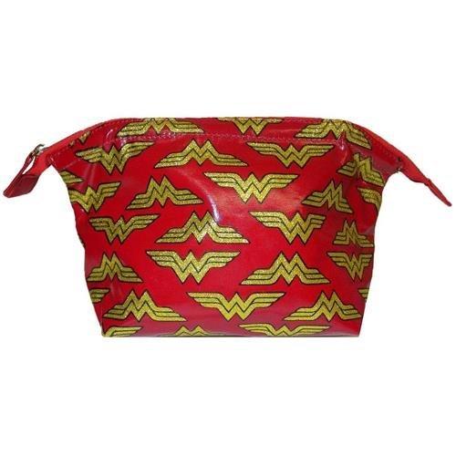 Wonder Woman Glitter Logo Ladies Wash Bag