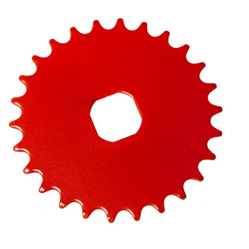 26T TEETH SPROCKET for ONE PIECE CRANK Bike Bicycle ORANGE (Square) NEW