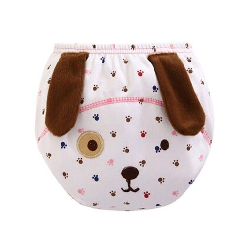 Set of 2 Multi-color Well Design Dog Pattern Babies Diapers, M