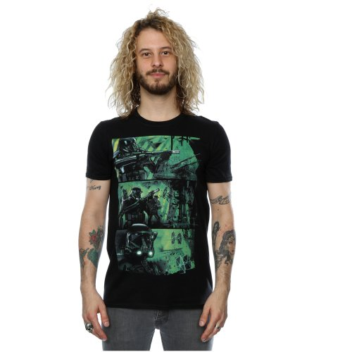 Star Wars Men's Rogue One Death Trooper Comic Strip T-Shirt