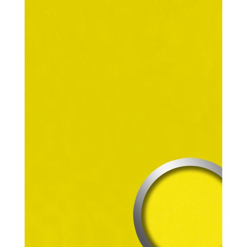 WallFace 20425 Antigrav LEMON YELLOW Design panelling nappa leather look yellow