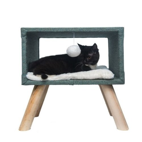 Cat Dream House Raised Stool Cave Hideaway Den Bed