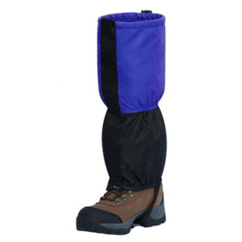 1 Pair, Sports Shoe Gaiters Foot Strap Binding Waterproof Leg Gaiters Blue