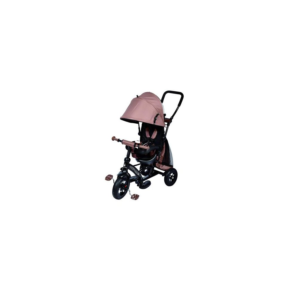 Ricco Kids Easy Steer Tricycle Buggy Stroller with Oxford Cloth Pedal and Reversible Seat XG6019 BIEGE