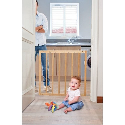 Dreambaby Hudson Gro-gate - Natural Wood