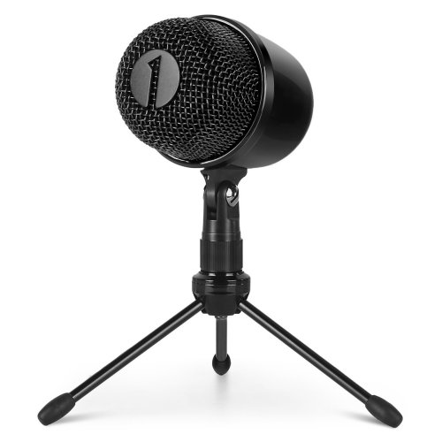 1byone USB Microphone with Tripod, Mute Button with LED, Plug & Play Cardioid Condenser USB Microphone