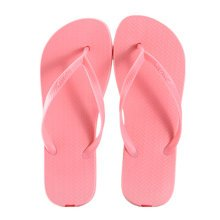 Unisex Casual Flip-flops Beach Slippers Anti-Slip House Slipper Coral Red