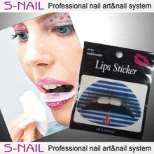 Lip Tattoo 2 In Packet Blue-white Lines