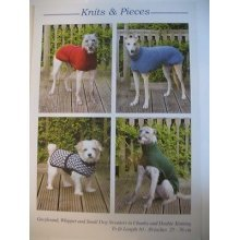 Knitting Pattern for Coats for Greyhounds, Whippets & Small Dogs