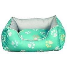 Trixie Jimmy Dog Bed, 60 x 50 Cm, Turquoise/grey - Bedcm Turquoisegrey -  trixie dog bed jimmy 50 cm turquoisegrey 60 rectangular various sizes new