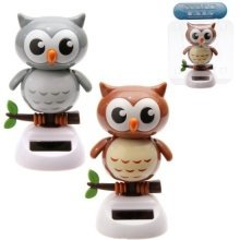 Solar Powered Owl Pal Nodding Dancing Novelty Home Car Window Dashboard Ornament Fun