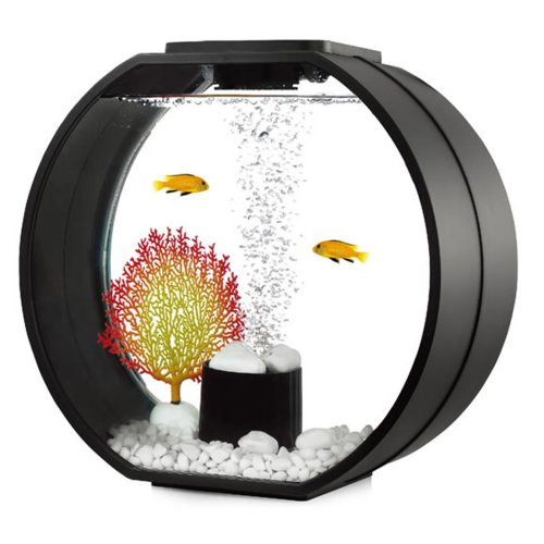 Fish R Fun Deco O Mini Fish Tank | Black LED Aquarium 10L