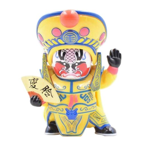 Traditional Chinese Opera Face Changing Doll Sichuan Opera Figure Toy, Yellow