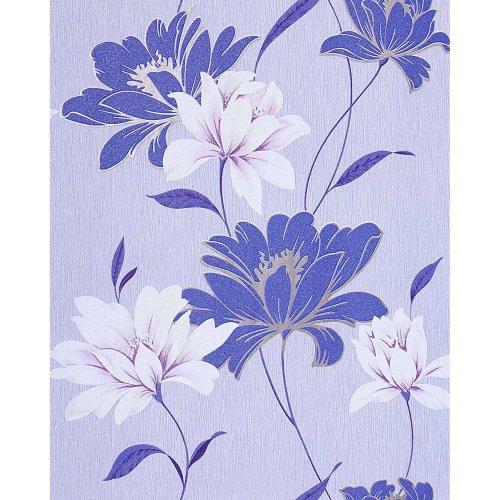 EDEM 168-32 vinyl wallpaper floral design flowers cobalt blue white | 5.33 sqm