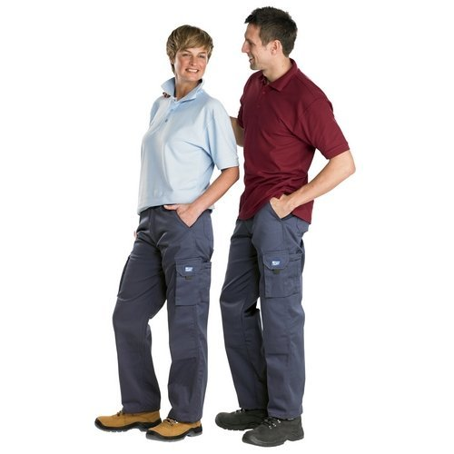 """Click CTRANTN30 Newark Cargo Trousers Navy Blue 30"""" Waist Standard Leg"""