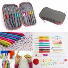 45 Pcs Crochet Needle Hooks Set Organiser Case Accessories Tapestry Craft Knitting Kit Craft Tools