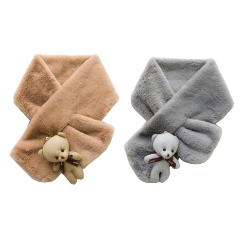 Set of 2 Cute Kids Scarves Children's Scarves Suitable for Winter [Q]