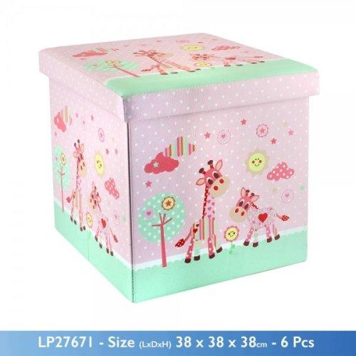 Little Sunshine Storage Box Pink Giraffe Design