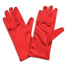 "9"" Red Satin Adults Gloves - Fancy Dress Accessory 9 Ladies Short -  gloves fancy dress red satin accessory 9 ladies short"