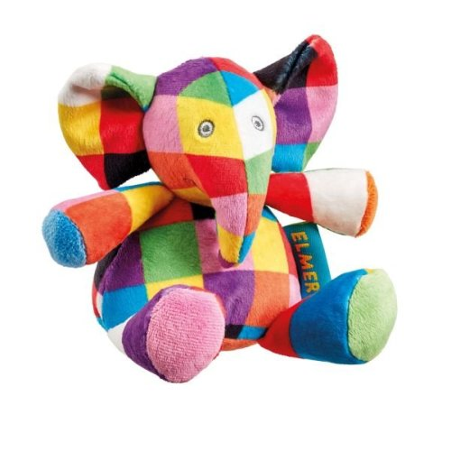 Rainbow Designs Elmer Plush Rattle