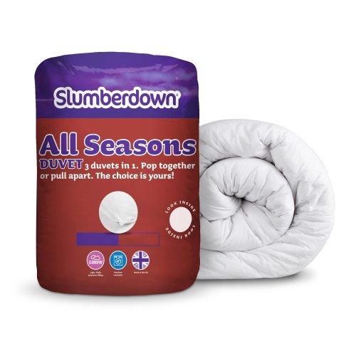 Slumberdown All Seasons 3-in-1 15 Tog Combi Duvet, White, King Size Bed