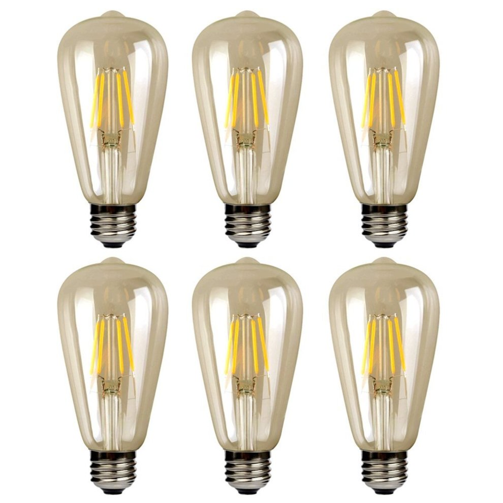 6 Edison 2700k Filament Bulbs Screw Light White Warm St64 Saving Pack Energy Vintage 4w Bulb Led E27 EYWDe9HI2