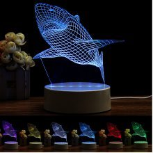 Shark Color Changeable 3D LED Touch Control Lamp Birthday Gifts Bedroom Living Room Home Decor