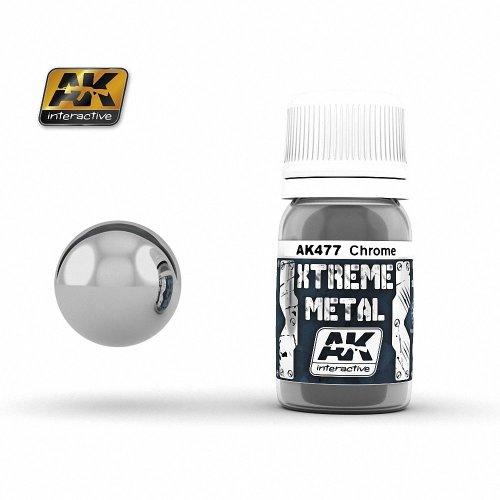Ak00477 - Ak Interactive Paints 30ml Extreme Metal - Chrome