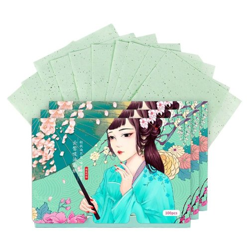 Double-sided Facial Oil Control Blotting Papers Makeup Blotting Papers 300 Sheets (C)