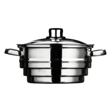 Steamer with Glass Lid, Stainless Steel, 21 cm