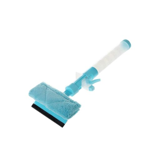 Blue Window Glass Cleaner Wiper Squeegee Car Wash Brush Cleaning Tool