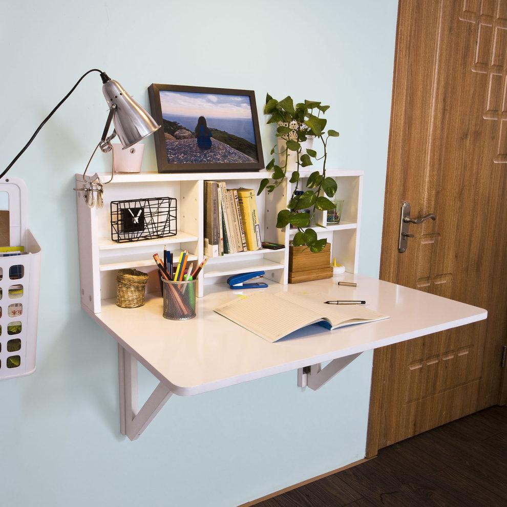 Sobuy 174 Fwt07 W Folding Wall Mounted Drop Leaf Table Desk