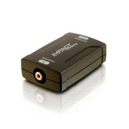 Cables To Go 40018 Coaxial to TOSLINK Optical Digital Audio Converter